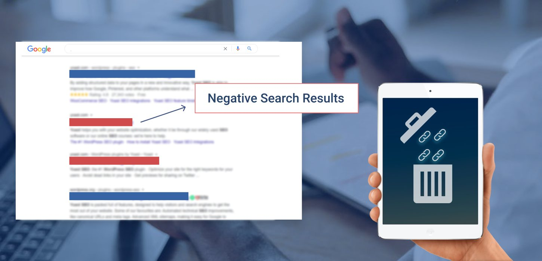 Remove negative content from Google search