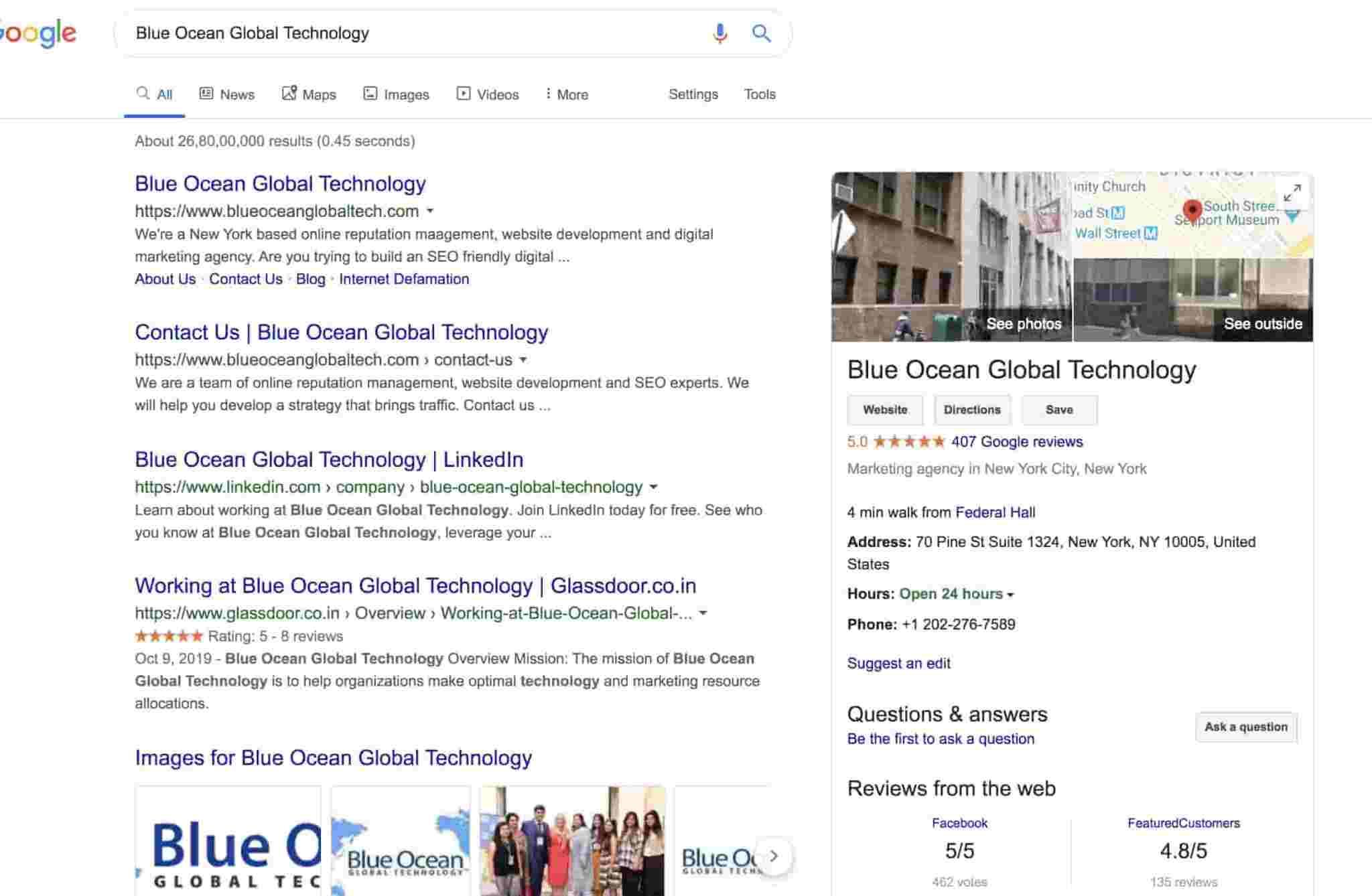 Blue Ocean Global Technology - Best SEO company in USA