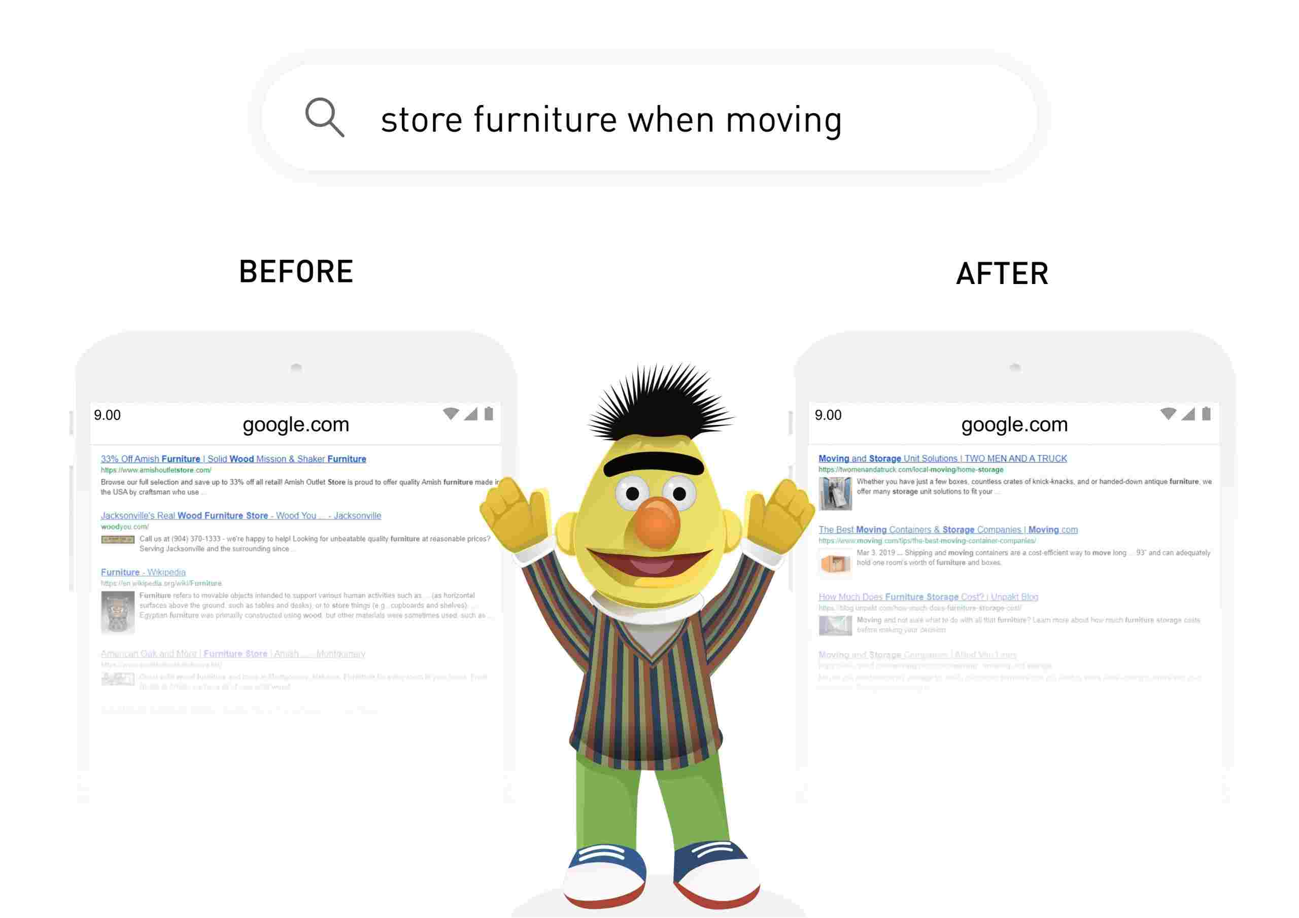 Google BERT algorithm and its effect on Google search results