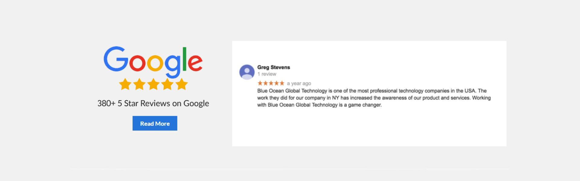 Google Customer Reviews - Blue Ocean Global Technology