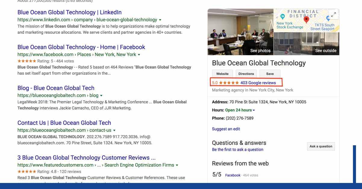 Google customer reviews for blue ocean global technology